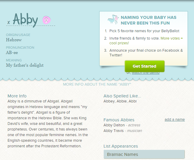 What's your name? What do you think about the name <3 Abby <3 ? #babynames  #Abby | Baby boy names, French baby names, Baby names