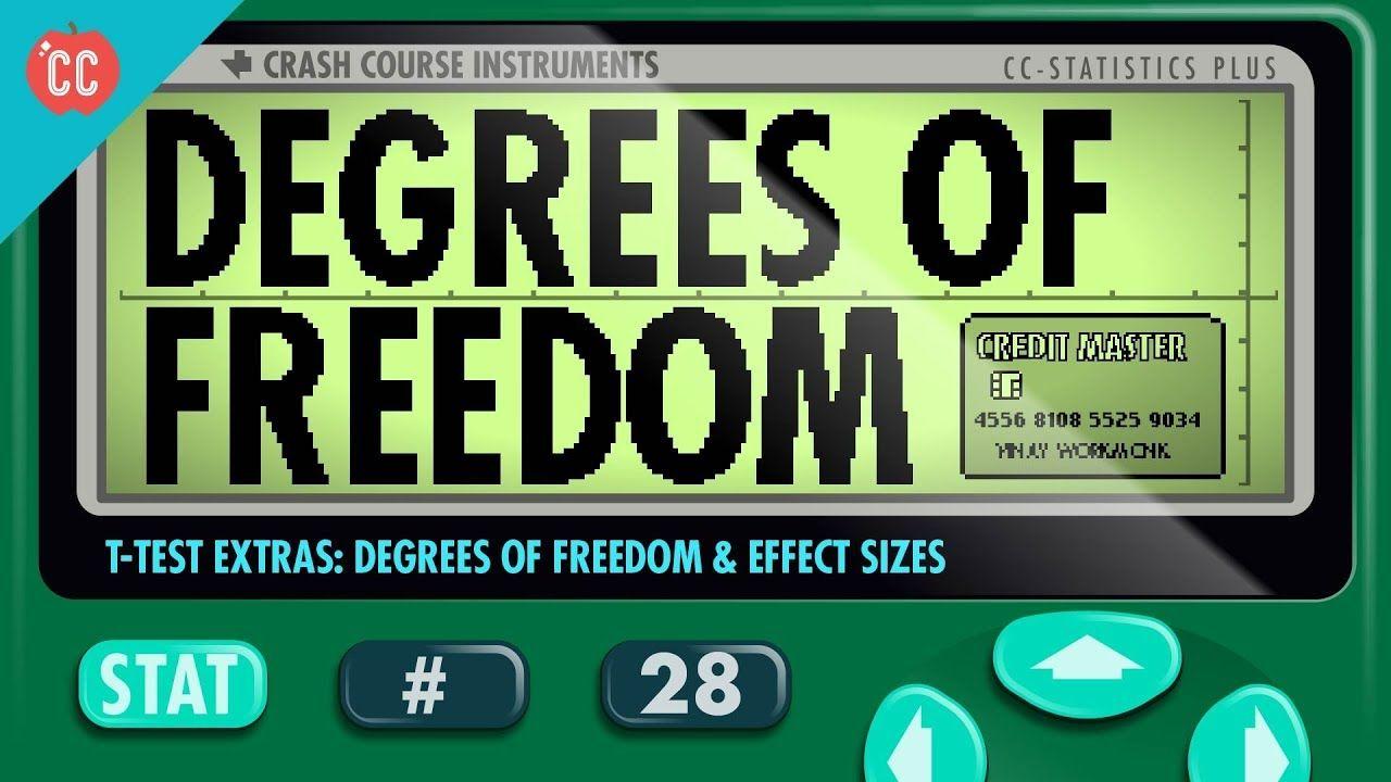 Degrees Of Freedom Effect Sizes Crash Course Statistics 28