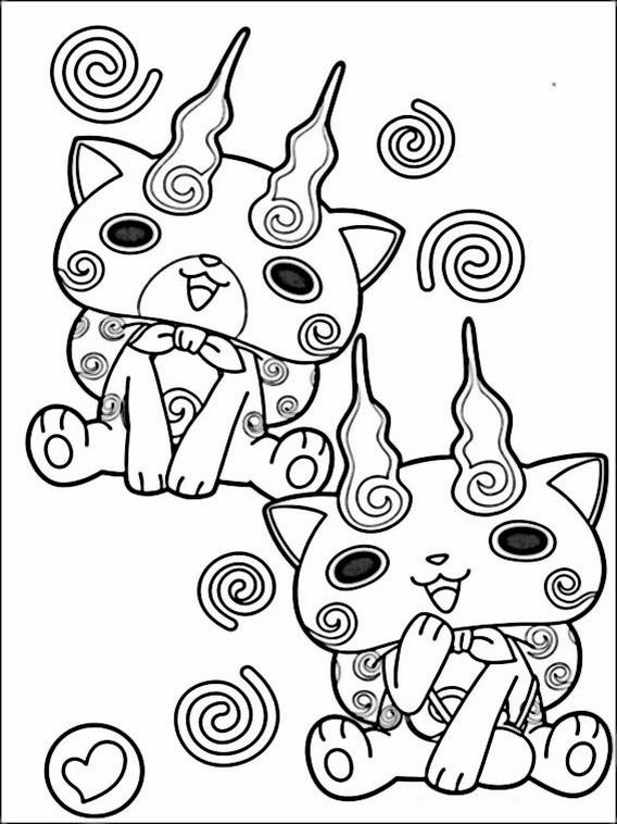 Yo Kai Watch Coloring Pages 5 Coloring Pages Drawing For Kids Free Coloring Pages