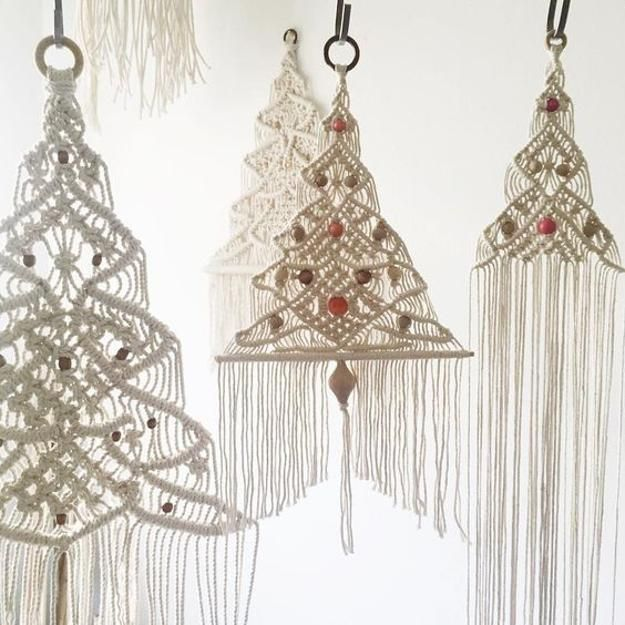 Macrame Trends in Decorating, Christmas Trees