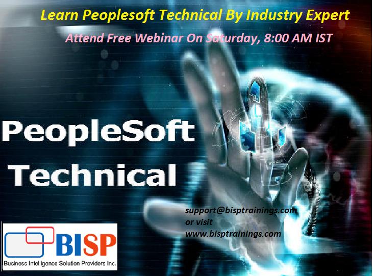 Learn Peoplesoft Technical By Industry Expert Attend free webinar on ...