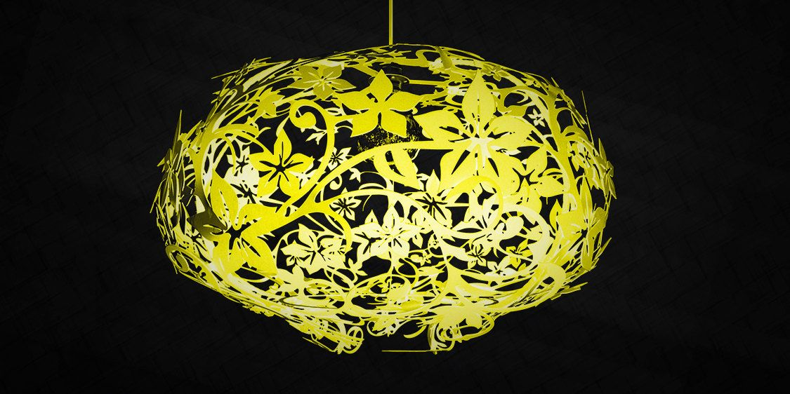 Im Gonna Figure Out A Way To Male This!! Pendant Lamp Flower Fixture Red