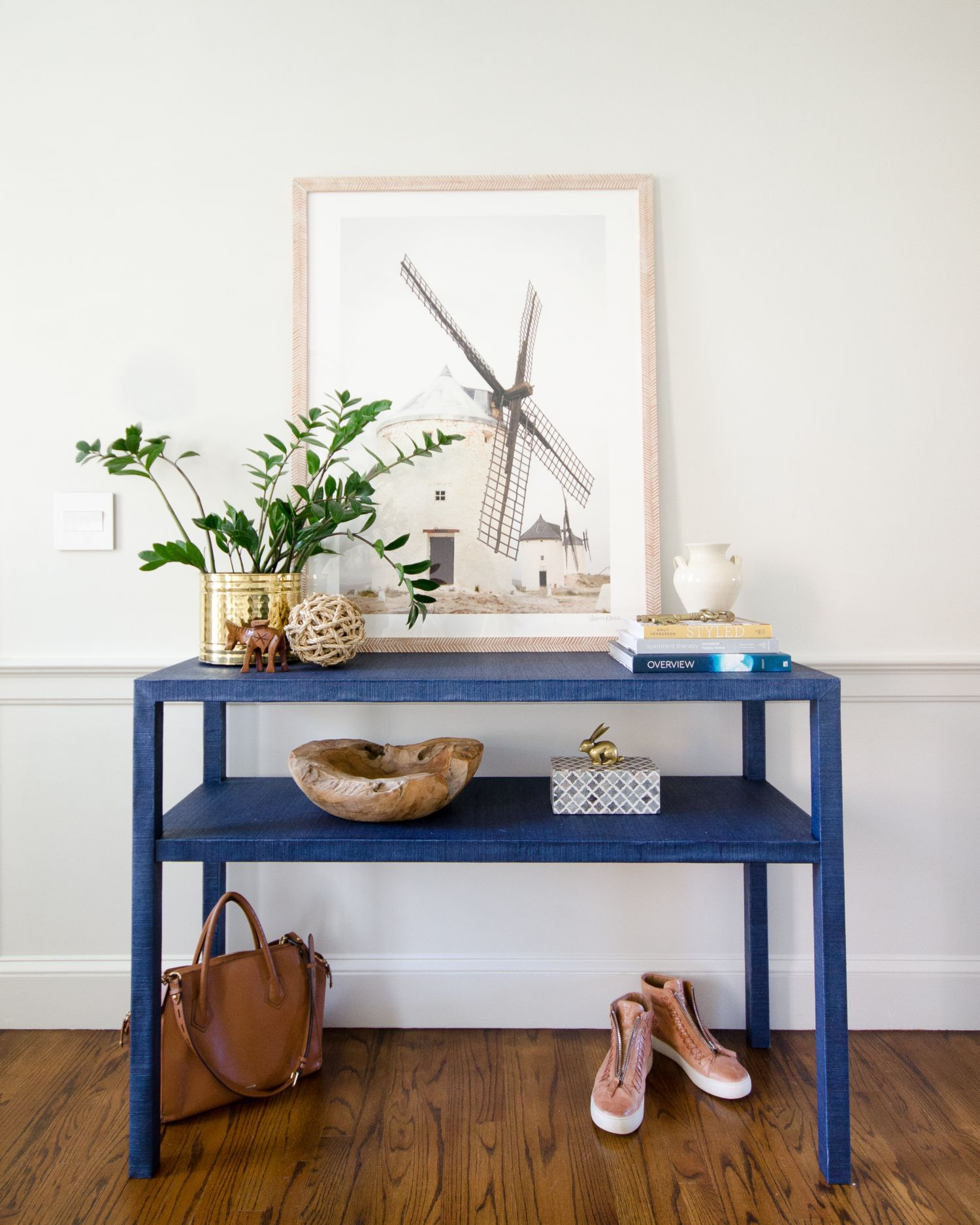Diy Grasscloth Table Console Table Diy Console Table