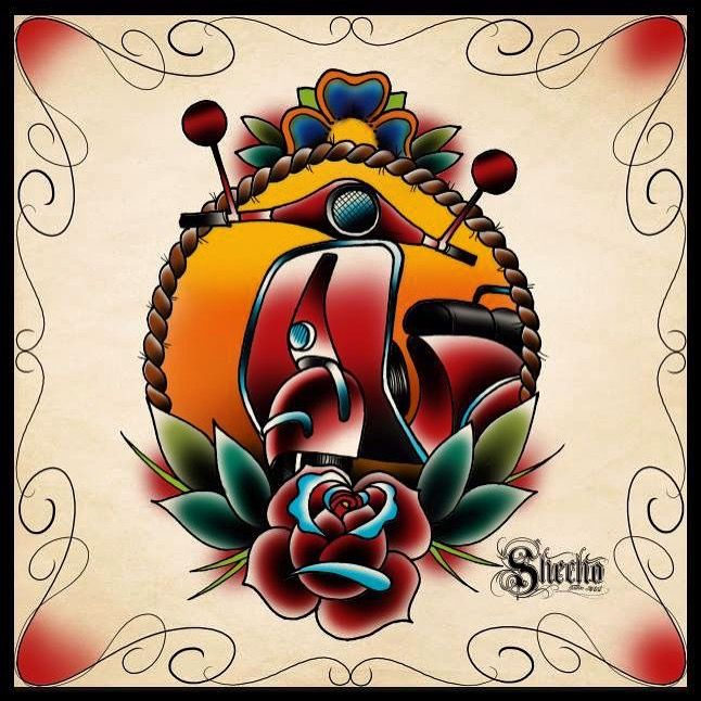 Vespa Tattoo Designe Tatuaggi Old School Tatoo Disegni A Matita