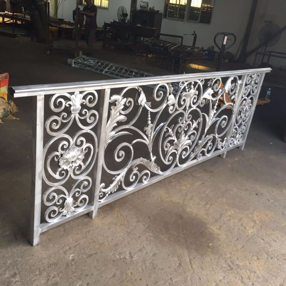 Luxury design wrought iron balcony railing for villas in for Luxury balcony design