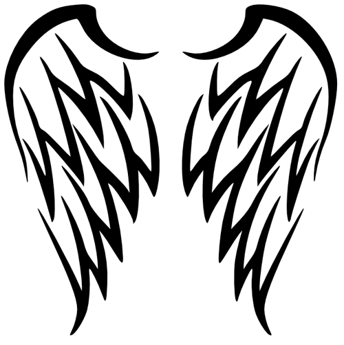 Tribal Angel Wings Tattoo Design Tribal Wings Wings Tattoo