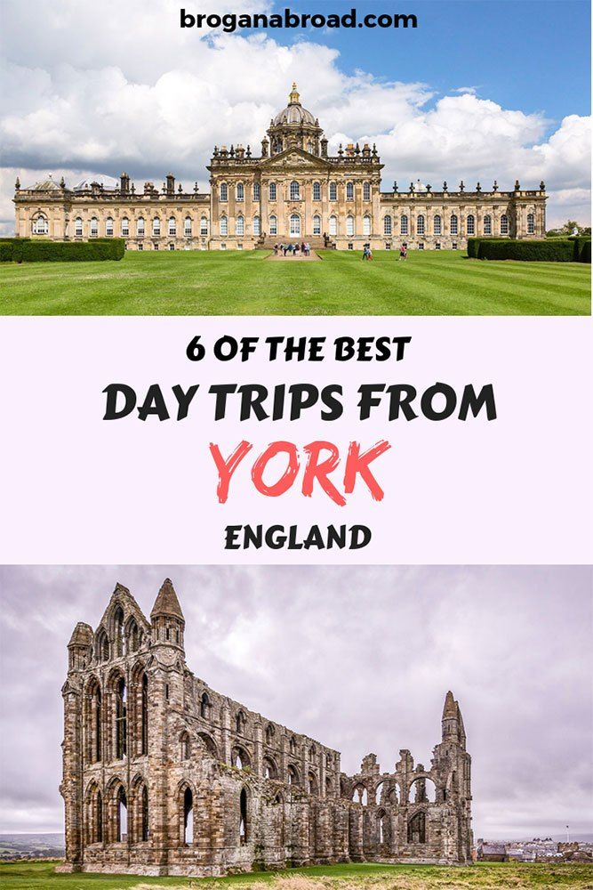 Here are some of the best York day trips you can do, which include spectacular countryside with plenty of cute villages, stately homes and the coast. #england #york #uk #travel