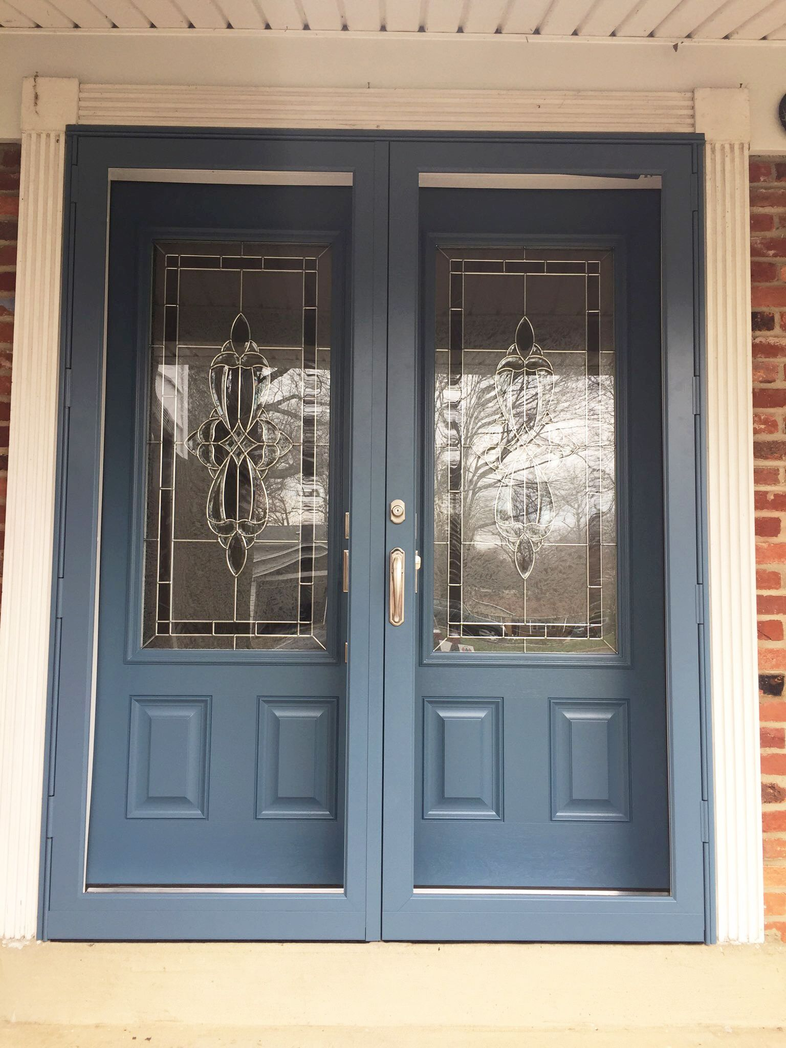 How Great Does This Set Of Double Doors Look Hm 601 Aluminum Storm