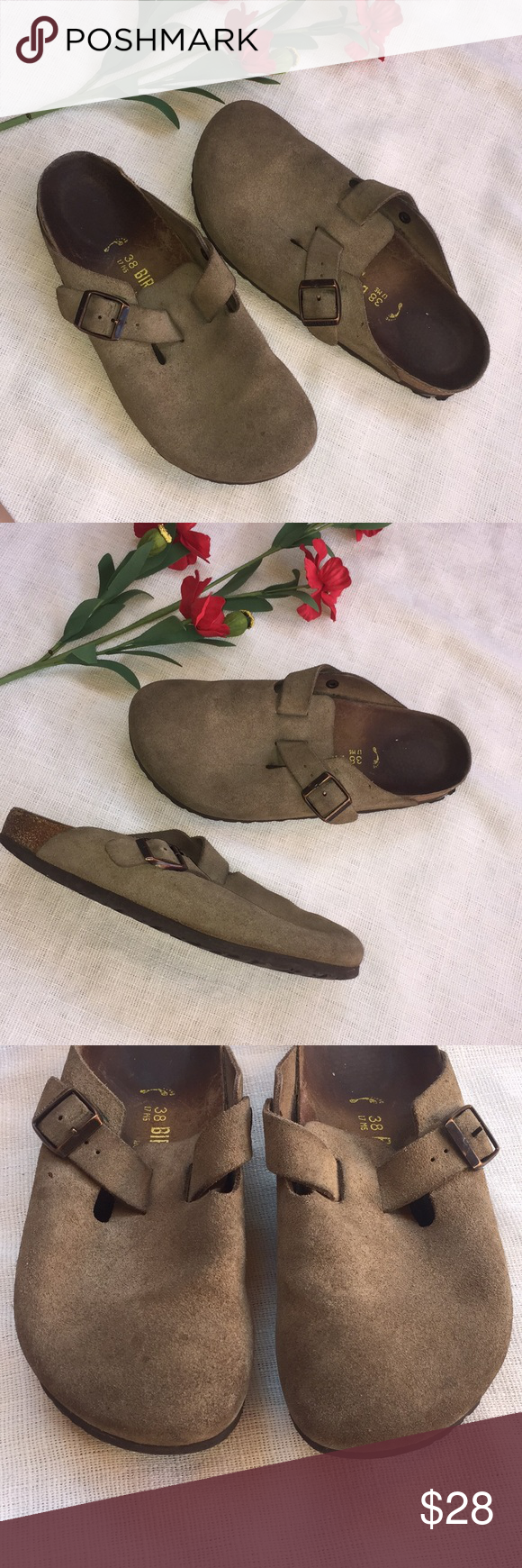 Birkenstock slip on Clogs Sz 38 or Birkenstock slip on