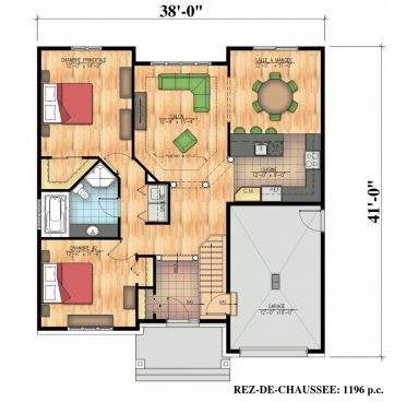 660 Scandinave Bungalow Secondary Home Plans Design A Frame House Plans House Plans Small Bungalow