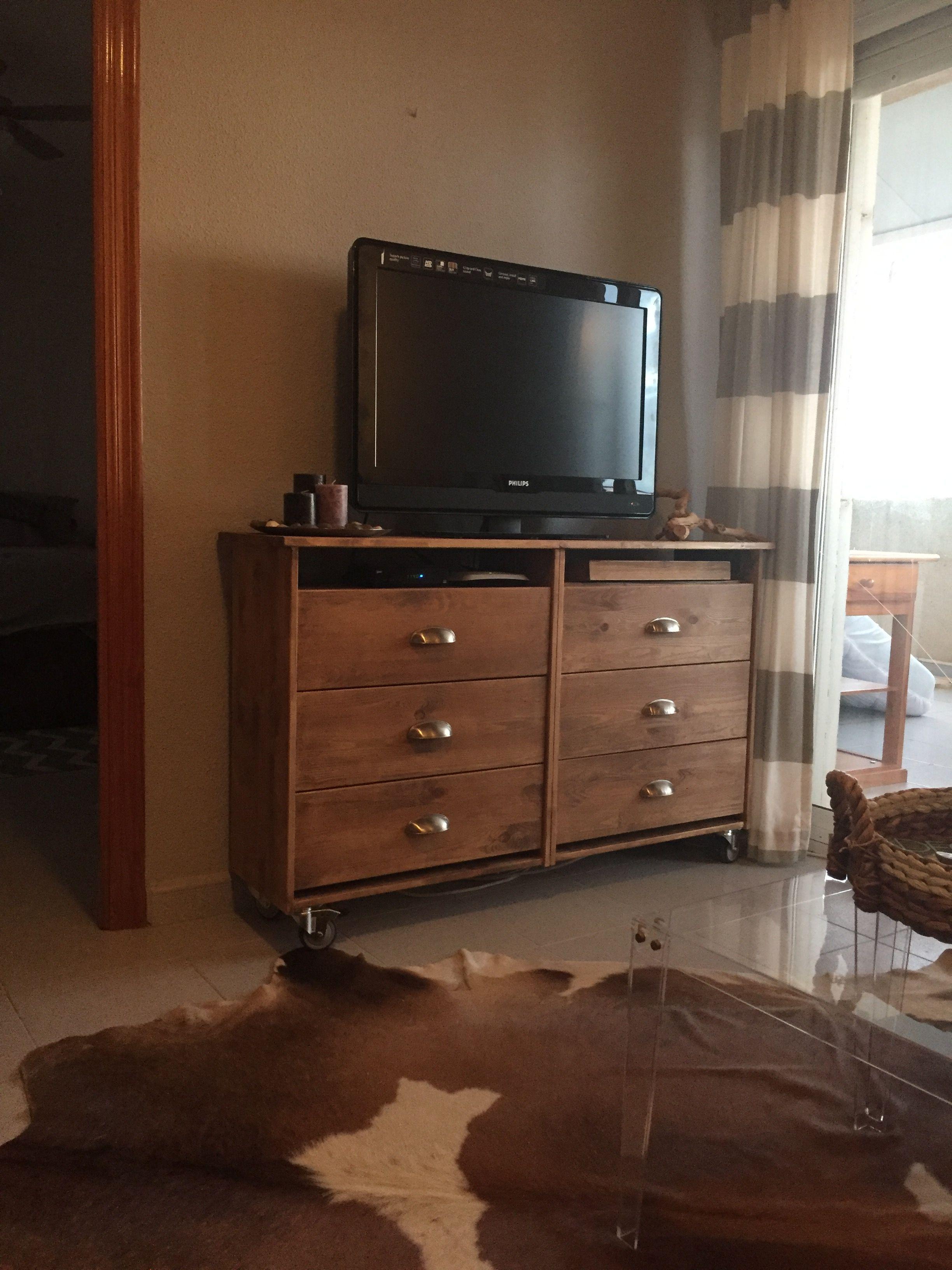 rast turned upside down, no kickplate Ikea tv stand