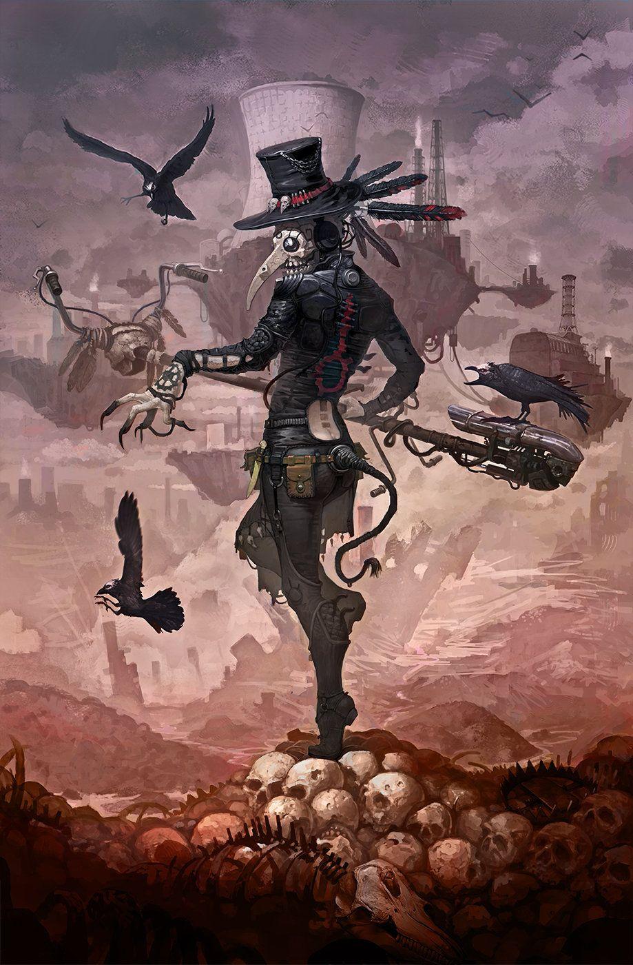 Ioan Human art Cyber Cyberpunk doctor Goth Gothic