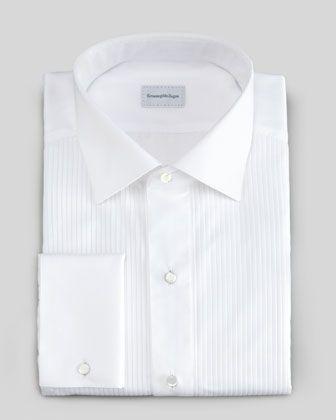 zegna tuxedo shirt
