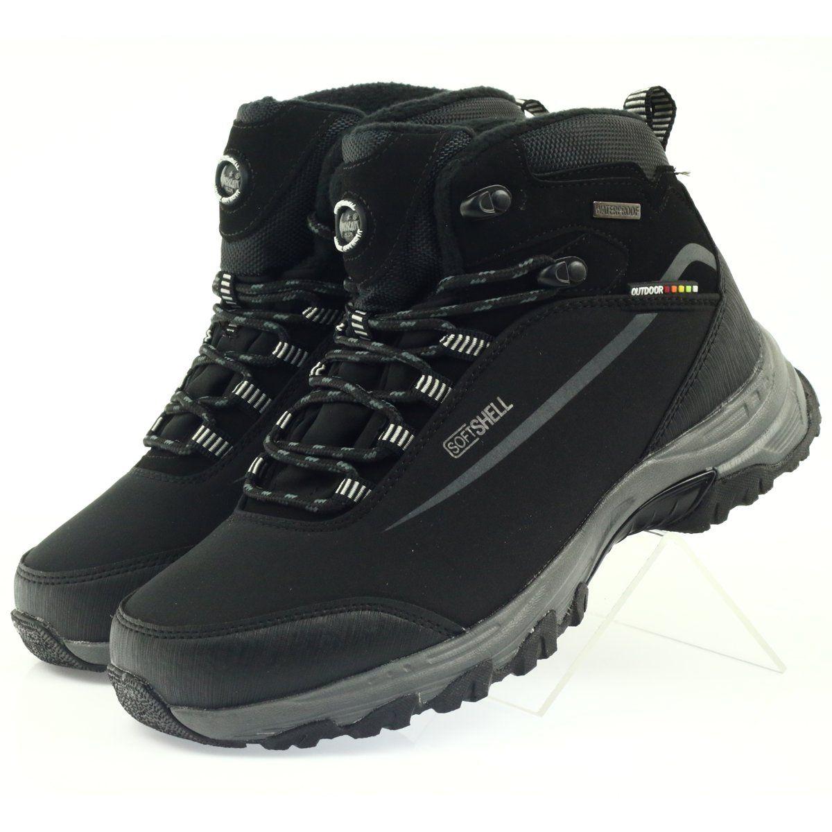 American Club Trekkingi Softshell Z Membrana Czarne Hiking Boots Softshell Boots