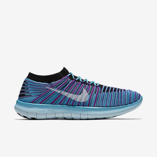 Nike Free RN Motion Flyknit Women's Running Shoes Gamma Blue/black