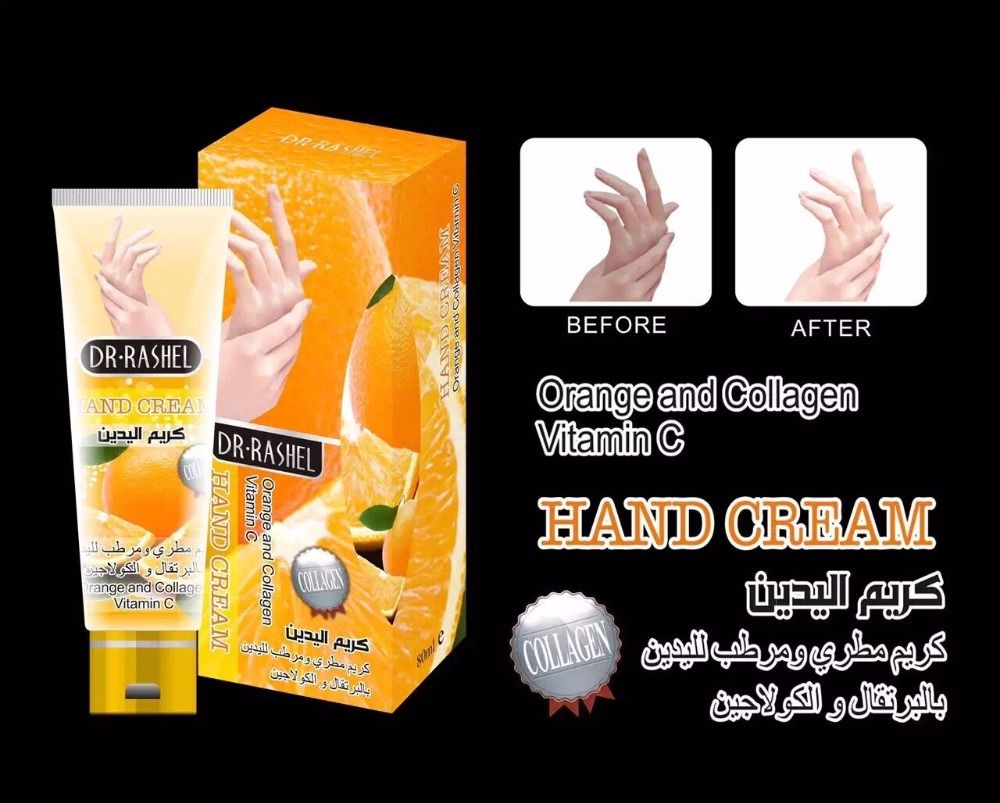 b1c3e4230 RASHEL natural moisturizing anti-aging smoothing whitening orange and  collagen vitqamin c hand cream 80ml