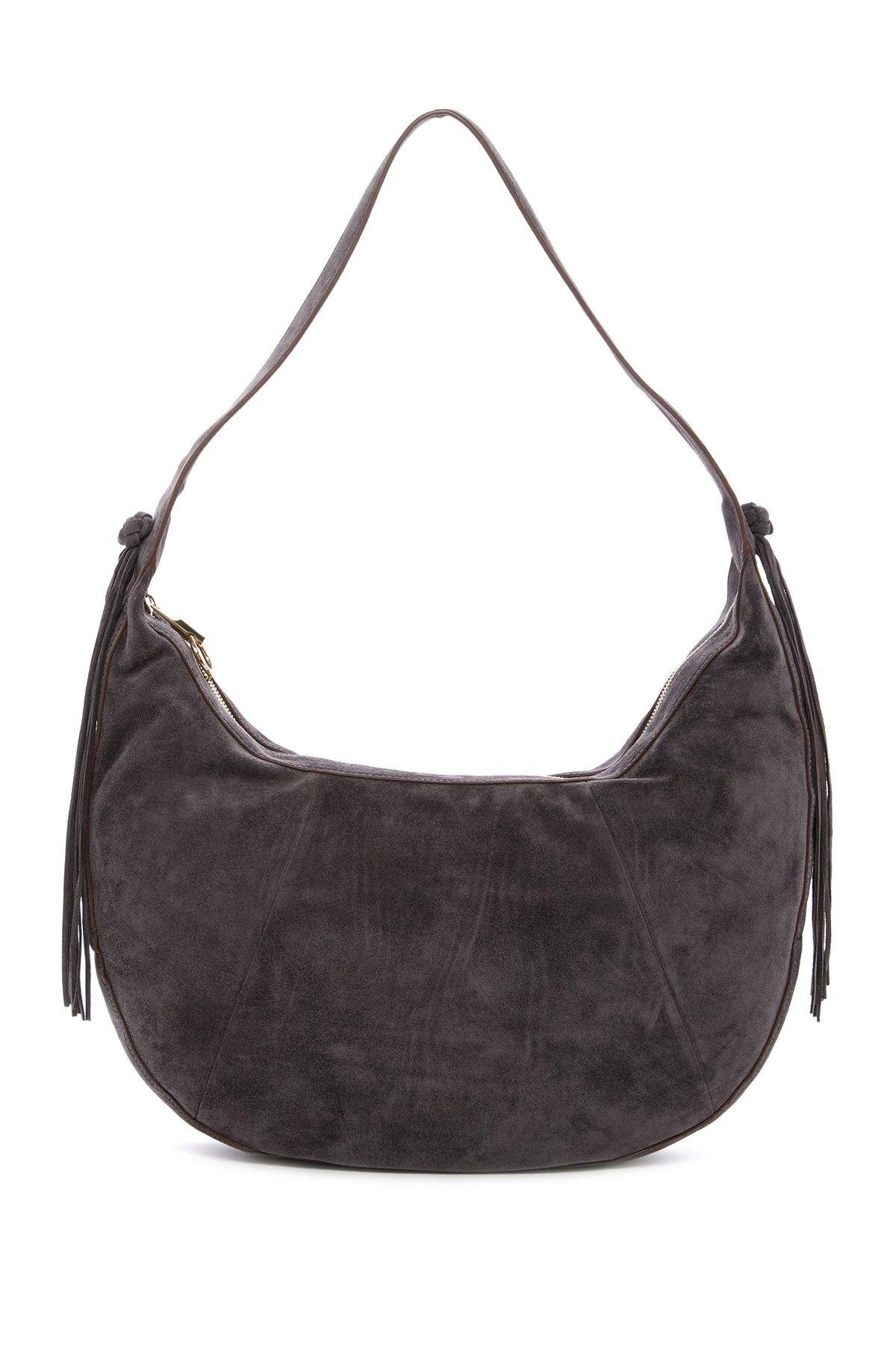 Zoe Large Suede Hobo Bag