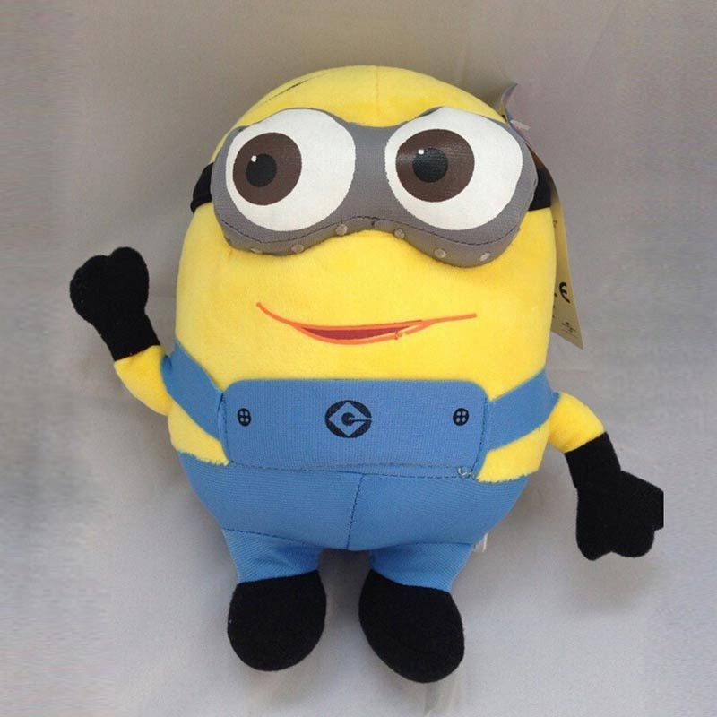 Kids Plush Toys Despicable Me 25cm 3D Eyes Minions Stuffed Dolls Jorge Stuart Dave Minion Plush Toys Drop Shipping HT498