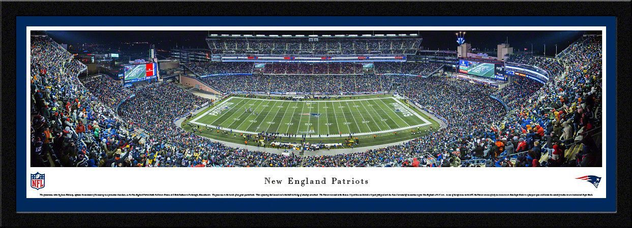 New England Patriots Gillette Stadium 50 Yard Line