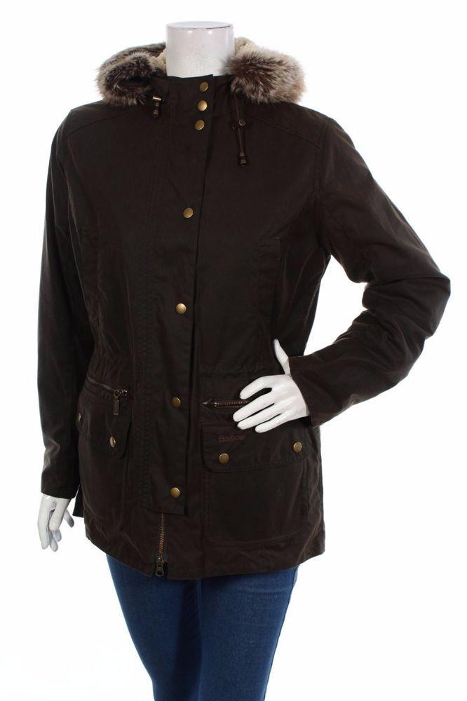 Barbour Women Jacket Ladies Parka Kelsall Waxed UK12 UK14 #Barbour #Parka
