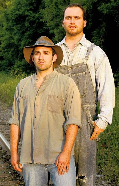 The extremes in the characters of george and lennie