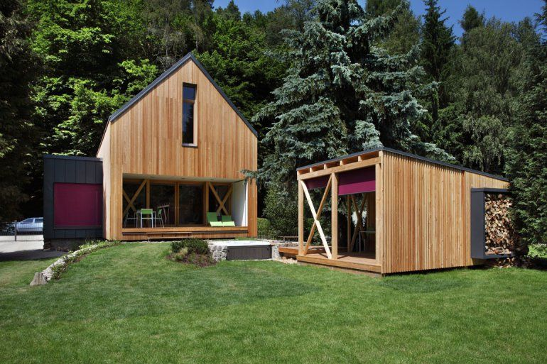 Small Contemporary Cottage In Stribrna Skalice By Prodesi Modern Cottage Cottage House Plans Contemporary Cottage