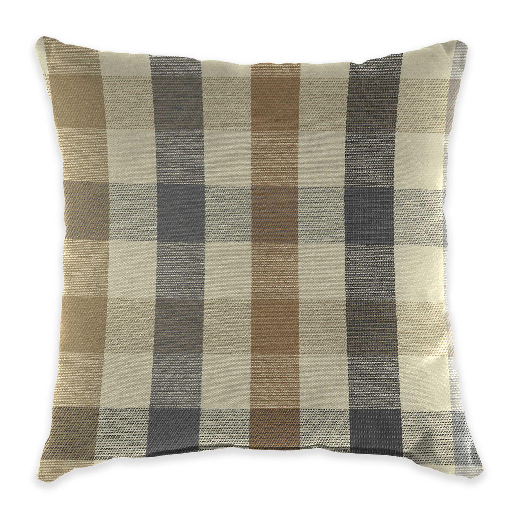 Outdoor Throw Pillow In Sunbrella Connect Dune Sunbrella Pillows Throw Pillows Outdoor Throw Pillows