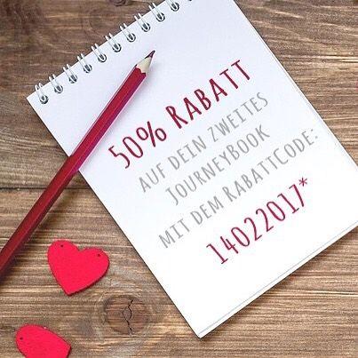 Valentinstagsgeschenk Für Reiseliebhaber! Kaufe Jetzt Zwei JourneyBooks Mit  Dem RabattCode 14022017 Und Erhalte 50%