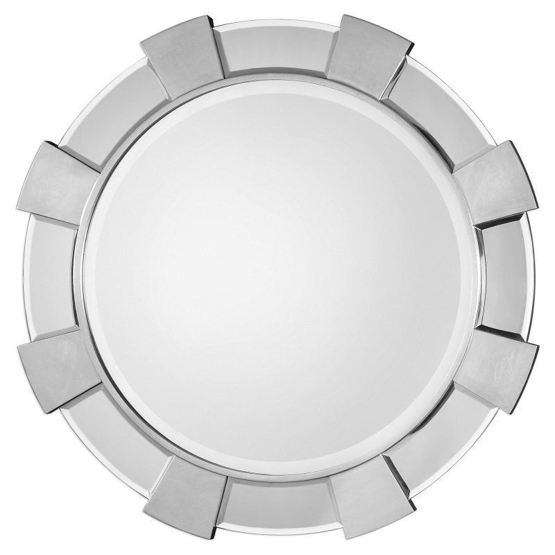 Charming Uttermost Danlin Round Wall Mirror   The Uttermost Danlin Round Wall Mirror  Is Surrounded By A Gear Like Frame That Gives It An Industrial, ... Nice Look