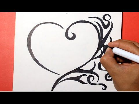 How To Draw A Heart Como Dibujar Un Corazon Youtube Dibujos