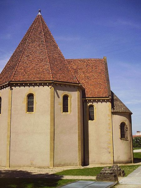 Templar chapel from the 12th C. in Metz, France. Once part of the Templar commandery of Metz, the oldest Templar institution of the Holy Roman Empire.