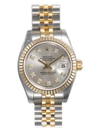 d0f42d8d877 Rolex Lady Datejust 26 Silver With 10 Diamonds Dial Stainless Steel and 18K  Yellow Gold Jubilee Bracelet Automatic Watch in 2019 | You Gotta Be Rich |  Rolex ...