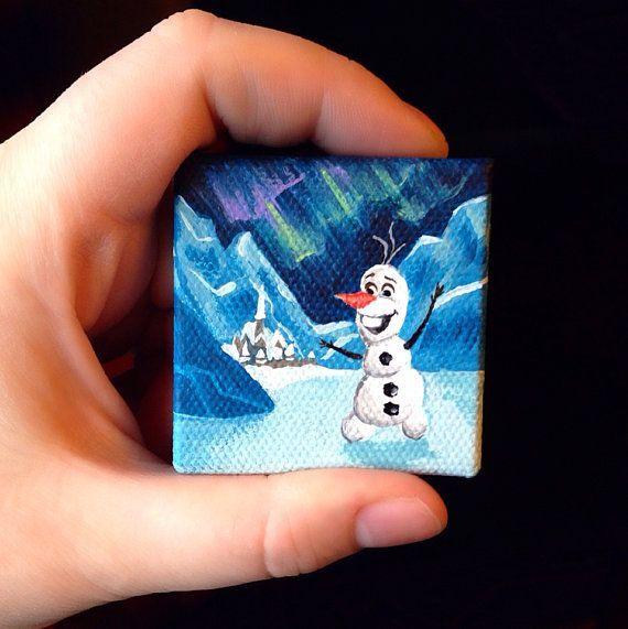Olaf Acrylic Painting Ideas