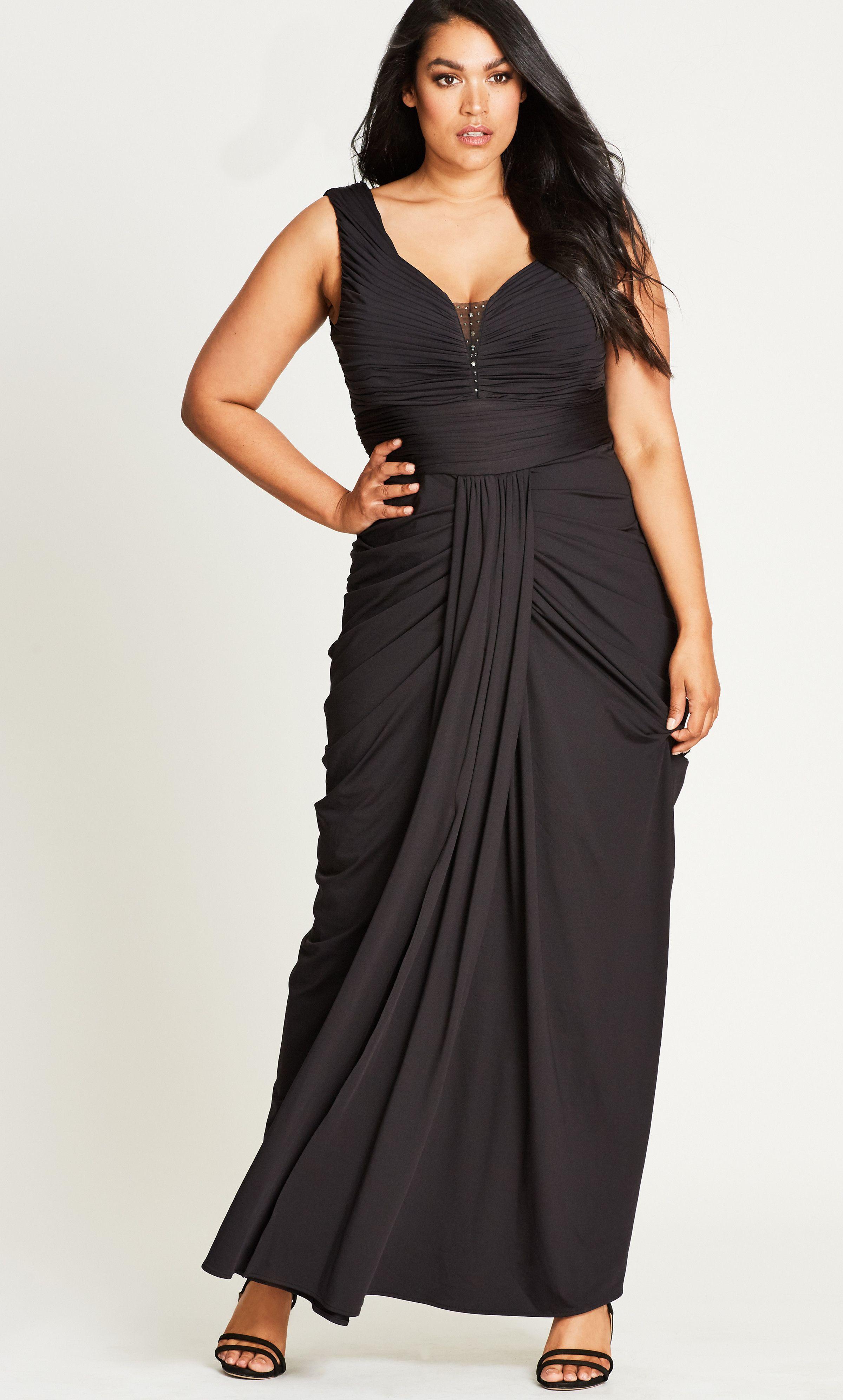 131fc0f7c17 Shop Women s Plus Size Seduce Me Black Plus Size Maxi Dress - Special  Occasion - Dresses