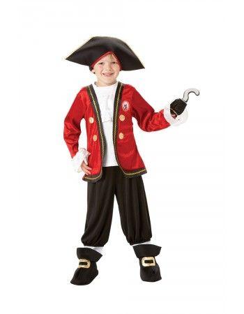 Enfants Garçons Enfant Capitaine Crochet Costume Robe Fantaisie Costume Rubies Peter Pan Pirate