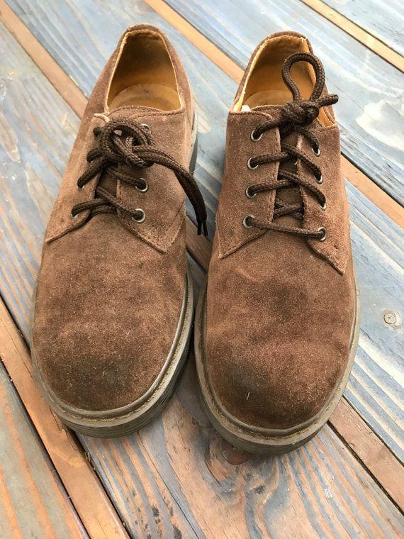 2176542f4d50 Skechers Men s Chocolate Brown Suede Shoe Size 9D Vintage Doc Martens  Boots