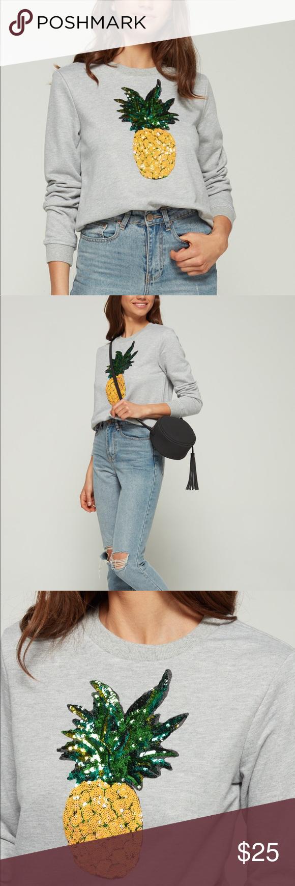 English Factory Sequin Pineapple Sweatshirt Clothes Design Fashion Fashion Design [ 1740 x 580 Pixel ]
