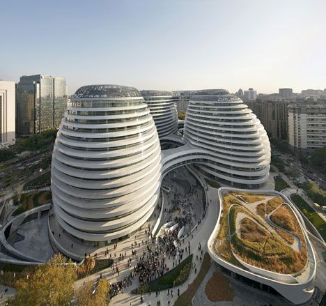 Galaxy Soho by Zaha Hadid Architects photographed by Hufton+Crow