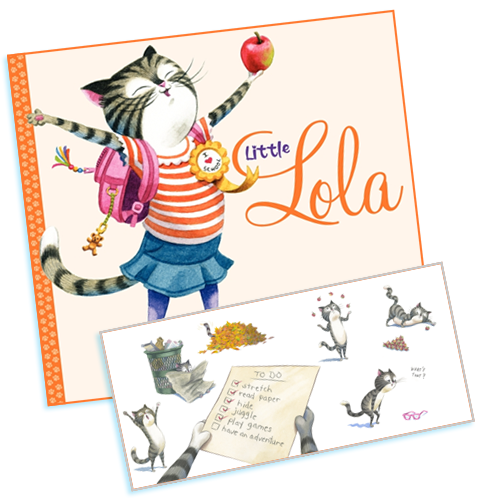 Little Lola by Julie Saab -- cat picture book