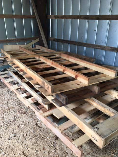 Stylish Rustic Sliding Pallet Interior Door   Interior ...