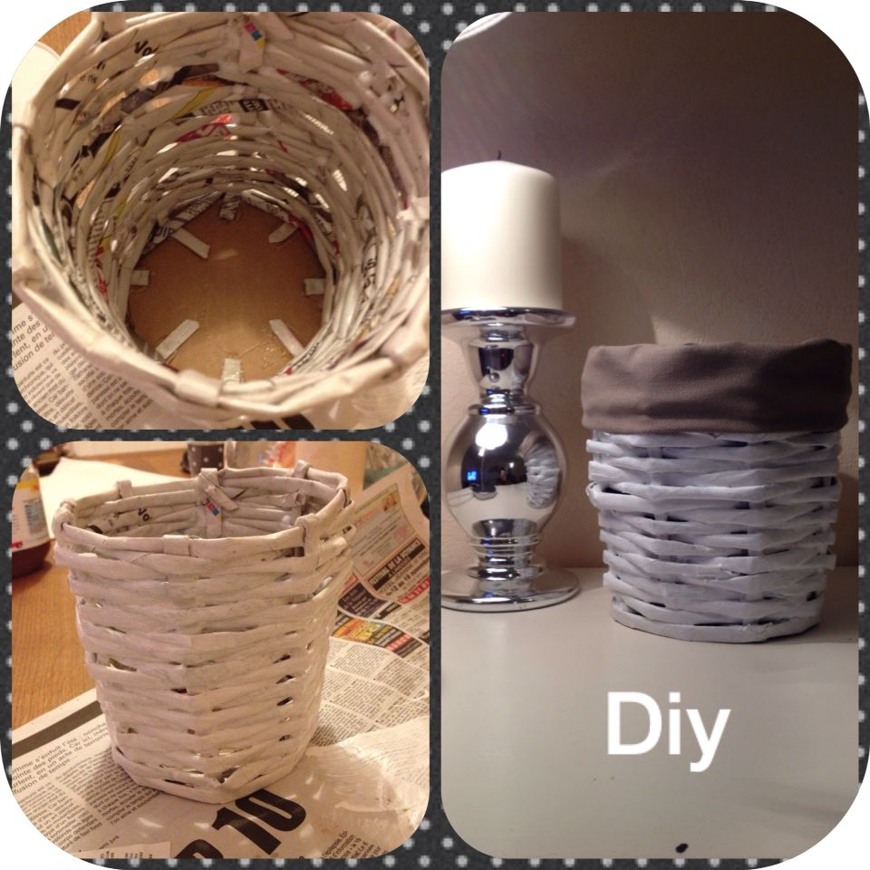 Panier en papier journal / newspaper  basket diy