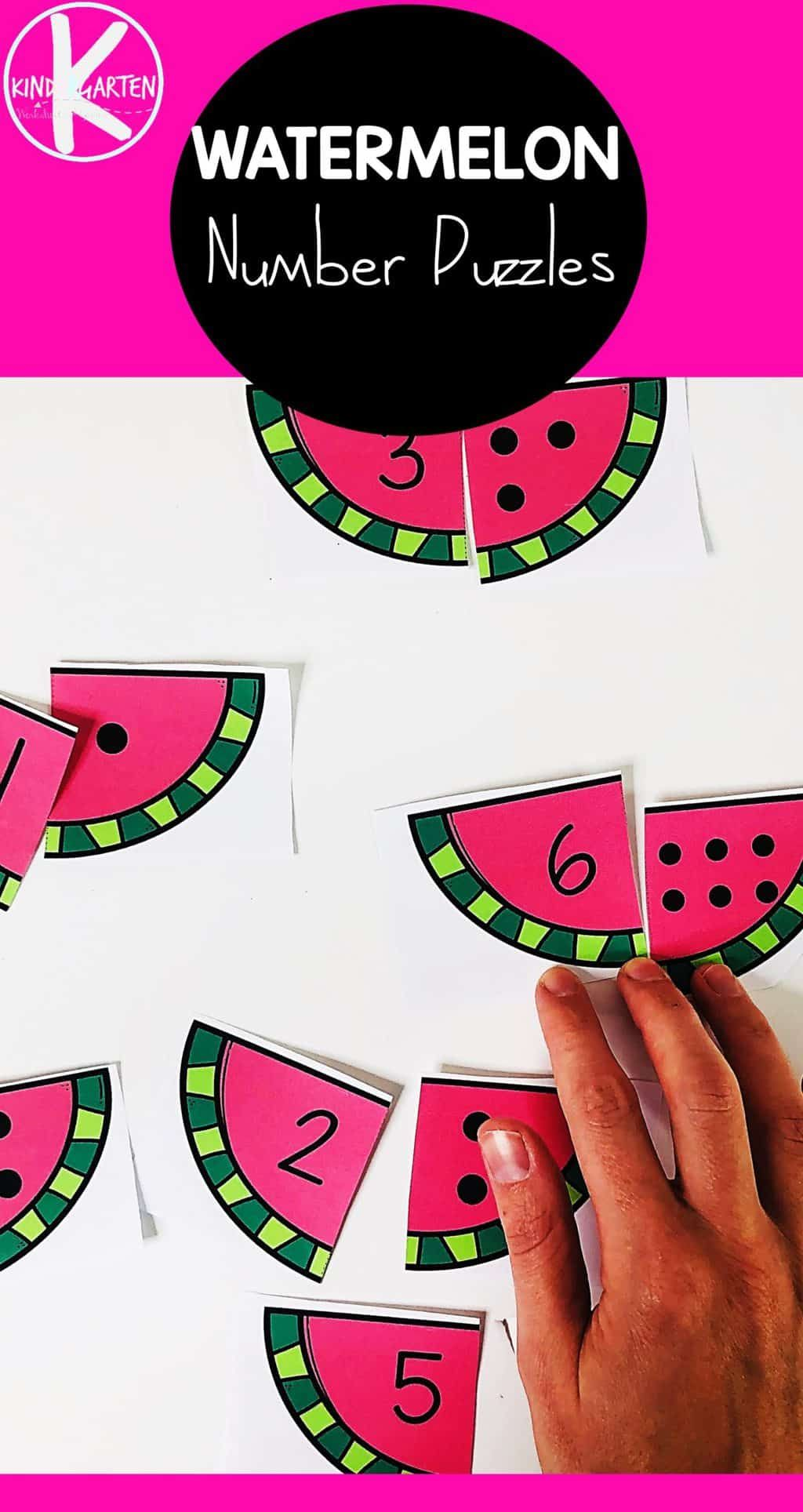 Free Watermelon Counting Puzzles Counting Puzzles Counting Activities Kindergarten Counting Kindergarten [ 1928 x 1024 Pixel ]