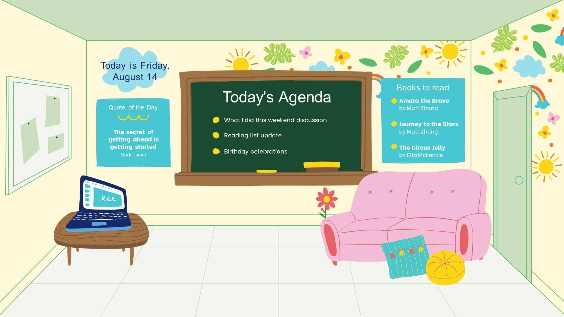قوالب الفصول الافتراضية بتصاميم جذابة اثناء عملية للتعلم عن بعد Happy Teachers Day Happy Teachers Day Wishes Teachers Day Wishes