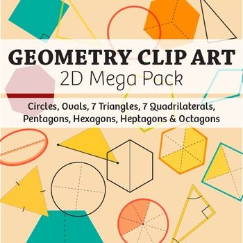 geometry clip art mega shapes pack � commercial math