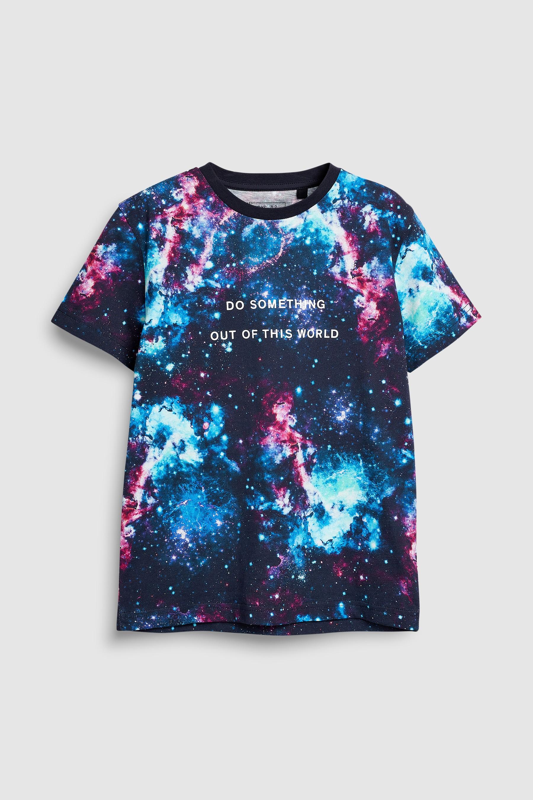 7e888db6 Boys Next Multi All-Over Print Slogan T-Shirt (3-16yrs) - Blue ...