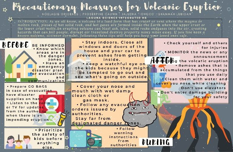 Pin by Hannah_Claire* on Safety precautions for volcanic