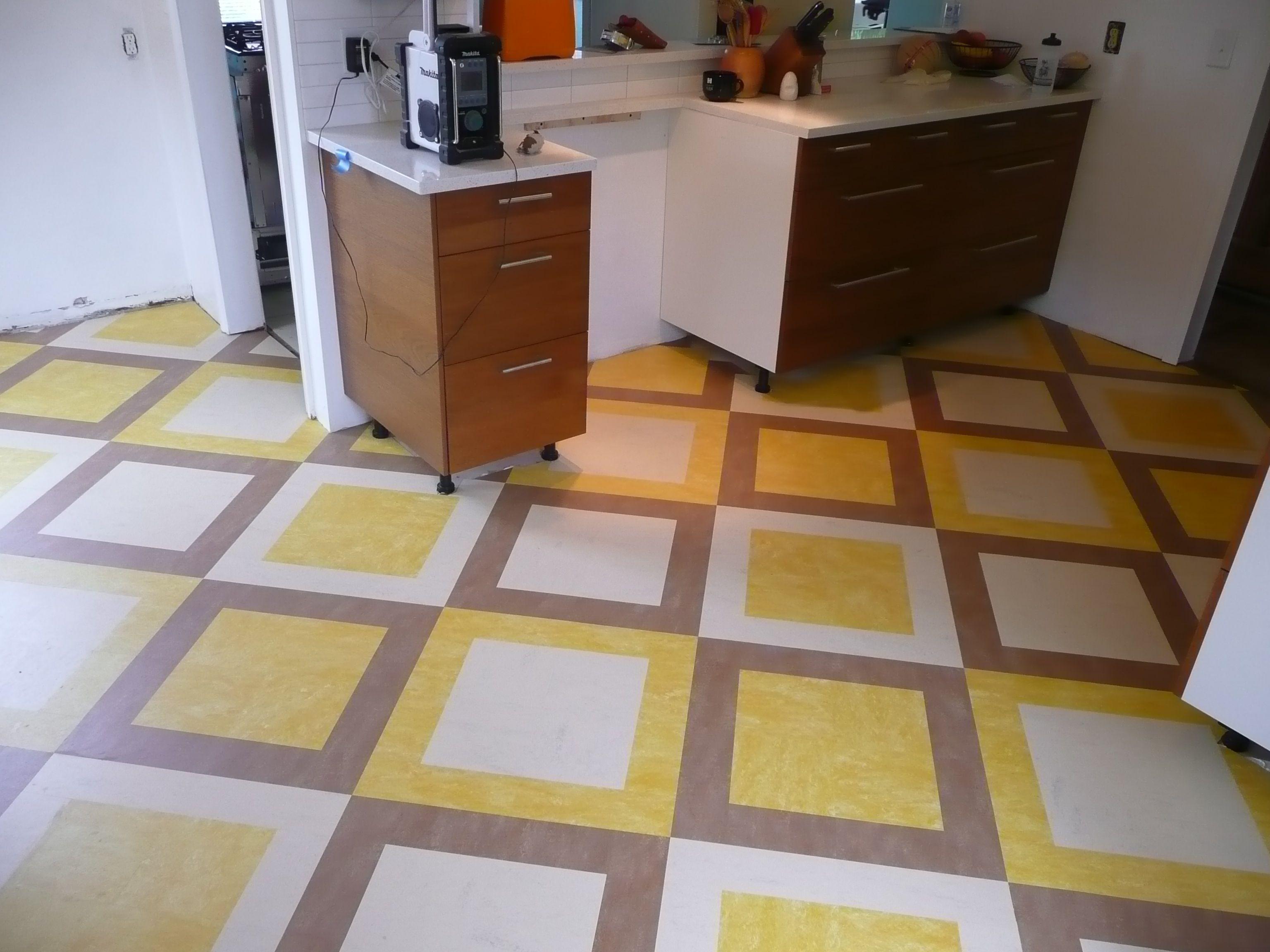 Checkerboard Kitchen Floor Design Ideas - newlibrarygood.com