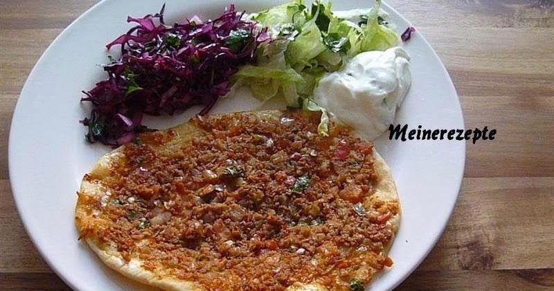 Türkische Pizza-Lahmacun,Türkische Rezepte,türkische Küche ...
