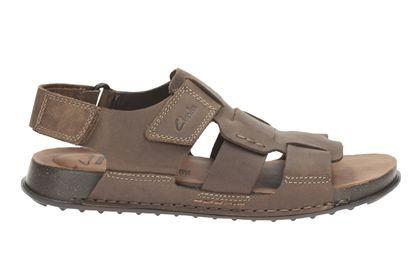 clarks keften edge tobacco nubuck mens casual sandals