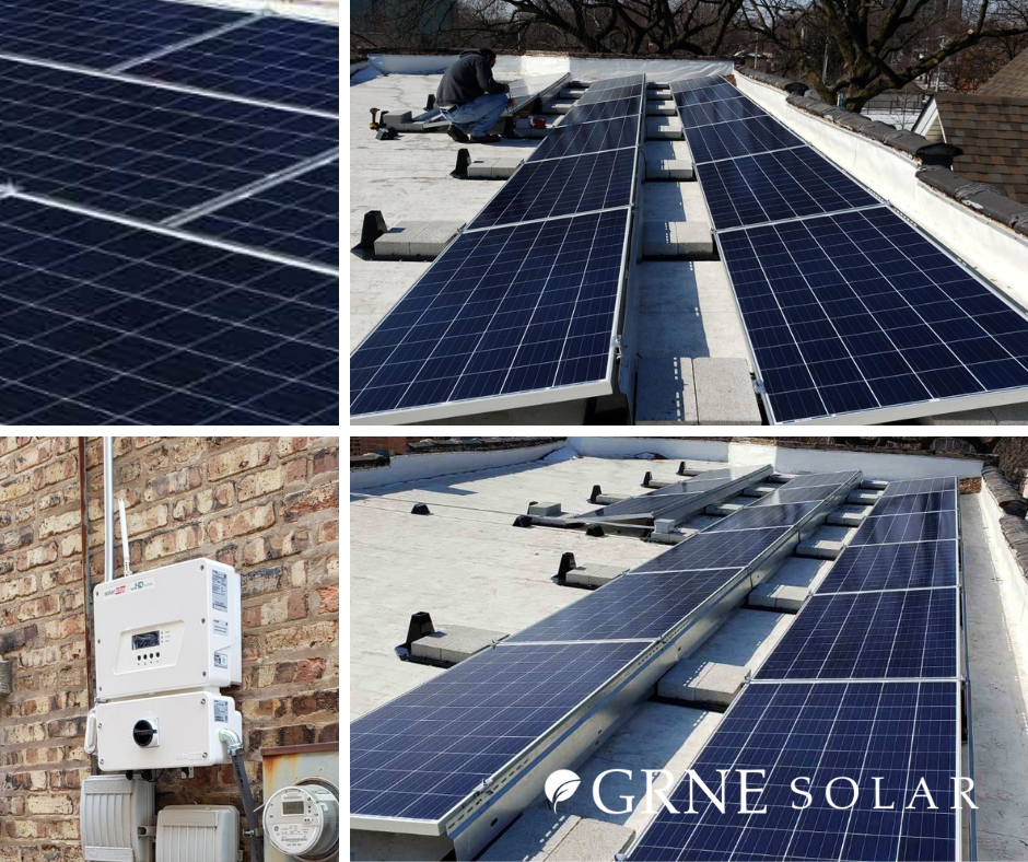 If You Have A Flat Roof That You Do Not Want To Penetrate Grne Solar Can Use What Is Called A Ballasted Mount For Y With Images Solar Installation Solar Residential